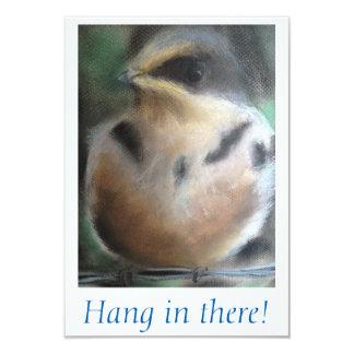 """Cartão """"Cair dentro lá! """"Pássaro"""