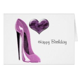 Cartão Calçados cor-de-rosa do estilete do Mulberry com