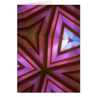 Cartão Caleidoscópio fúcsia