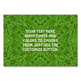 Cartão Caleidoscópio verde indo    Tablecards