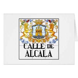 Cartão Calle de Alcalá, sinal de rua de Madrid