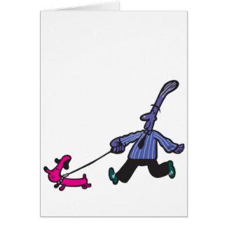 Cartão Caminhante do cachorrinho