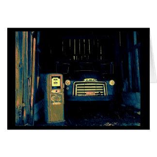 Cartão Caminhão de GMC do vintage & bomba de gás