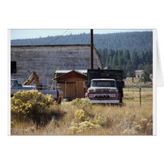 Cartão Caminhão do rancho
