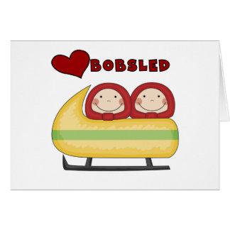 Cartão Camiseta e presentes do Bobsled do amor