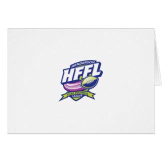 Cartão Campeonato de futebol da bandeira de Henderson