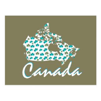 Cartão canadense de Canadá do bordo do