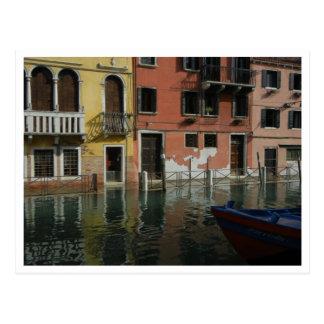 Cartão - canal em Veneza, Italia Cartões Postais