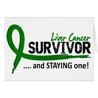 Cartão Câncer de figado do sobrevivente 8
