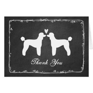 Cartão Caniches padrão que Wedding o obrigado você