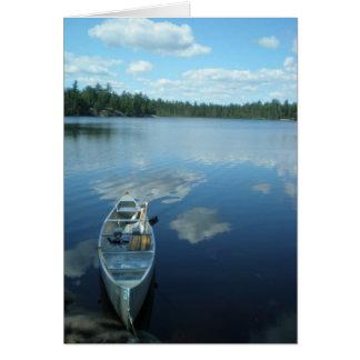 Cartão Canoeing o limite molha v.1