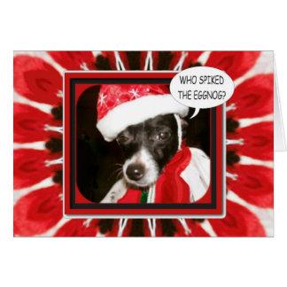 Cartão Cão cravado da gemada
