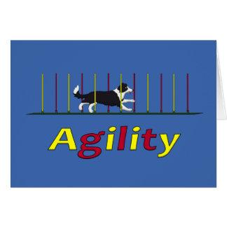 Cartão Cão da agilidade