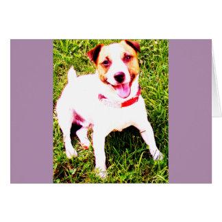 Cartão cão de filhote de cachorro, Jack Daniels