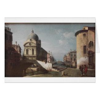Cartão Capricho Venetian, vista de Santa Maria