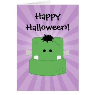 Cartão Cara engraçada Frankenstein