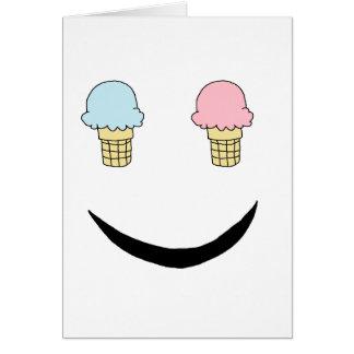 Cartão Cara feliz do sorvete