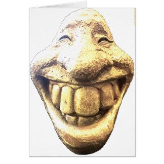 Cartão Cara feliz enorme