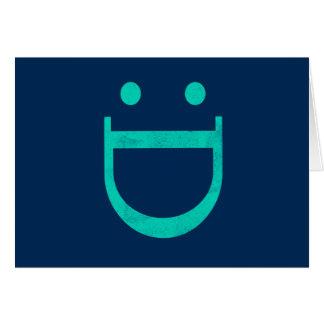 Cartão Cara feliz, parabéns