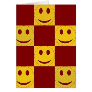 Cartão Caras felizes vermelhas e amarelas