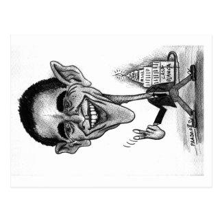 Cartão-caricatura de Obama Cartão Postal