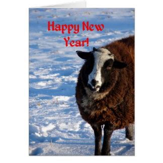 Cartão Carneiros do ano novo