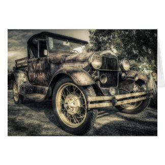 Cartão Carro antigo, carro velho
