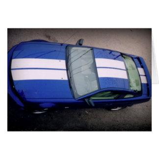 Cartão carro-azul do músculo