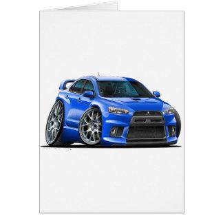 Cartão Carro do azul de Mitsubishi Evo