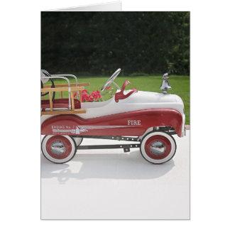Cartão Carro genérico do Firetruck do carro do pedal do