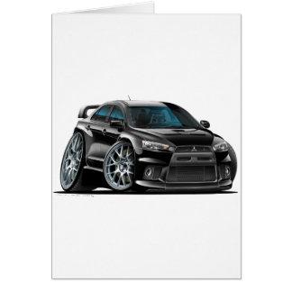 Cartão Carro preto de Mitsubishi Evo