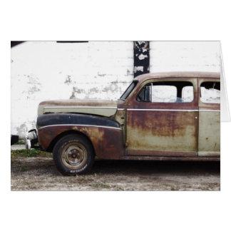 Cartão Carro velho