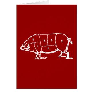 Cartão Carta dos carniceiros da carne de porco (PORCO) -