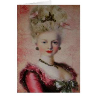 Cartão Cartão/convites do ~ da rainha Marie Antoinette