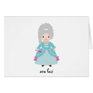 Cartão Cartão-Marie personalizado Antoinette da nota dos