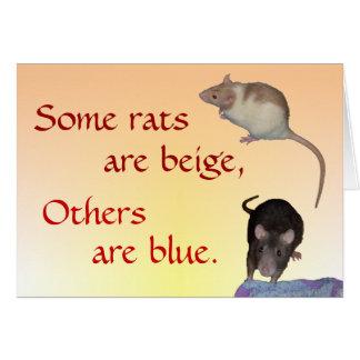 Cartão Cartão: Poema Ratty (horizontal)