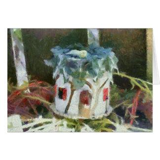 Cartão Casa do país das fadas