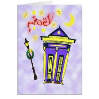 Cartão Casa Noël da arma do tiro de Nova Orleães