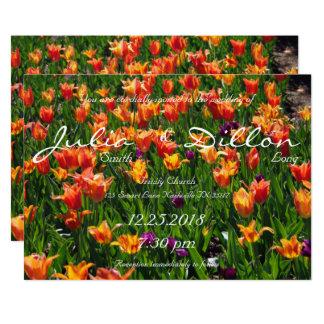 Cartão Casamento alaranjado do jardim