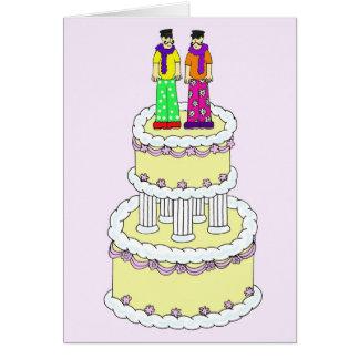 Cartão Casamento civil fabuloso da união.