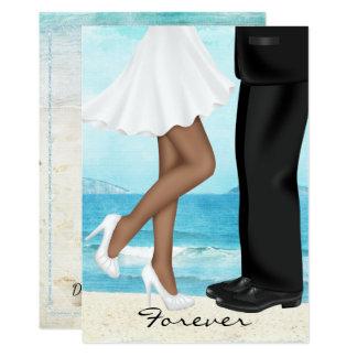 Cartão Casamento de praia do destino com noivos