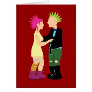 Cartão Casamento do punk