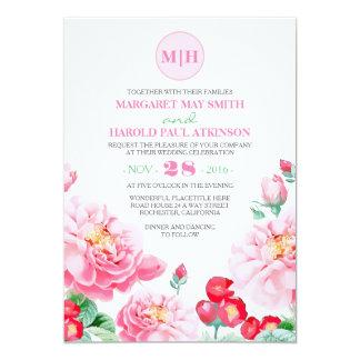 Cartão Casamento elegante do jardim do vintage floral