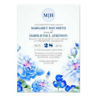 Cartão Casamento elegante do jardim do vintage floral do