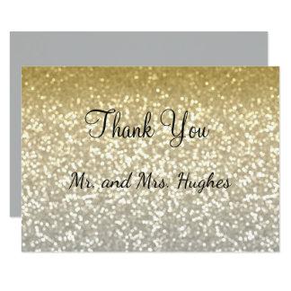 Cartão Casamento elegante dos cristais do brilho do ouro