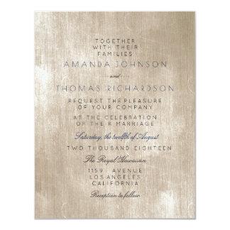 Cartão Casamento Glam sujo de creme do marfim