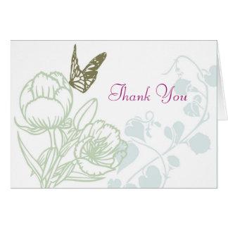 Cartão Casamento ilustrado do primavera da flora & da