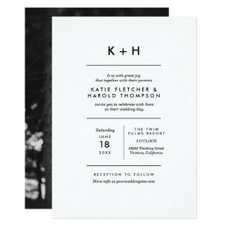 Cartão Casamento minimalista da foto