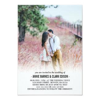 Cartão Casamento minimalista romântico da foto