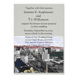 Cartão Casamento moderno de Las Vegas